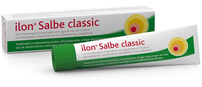 ilon Salbe classic Tube liegend mit Verpackung